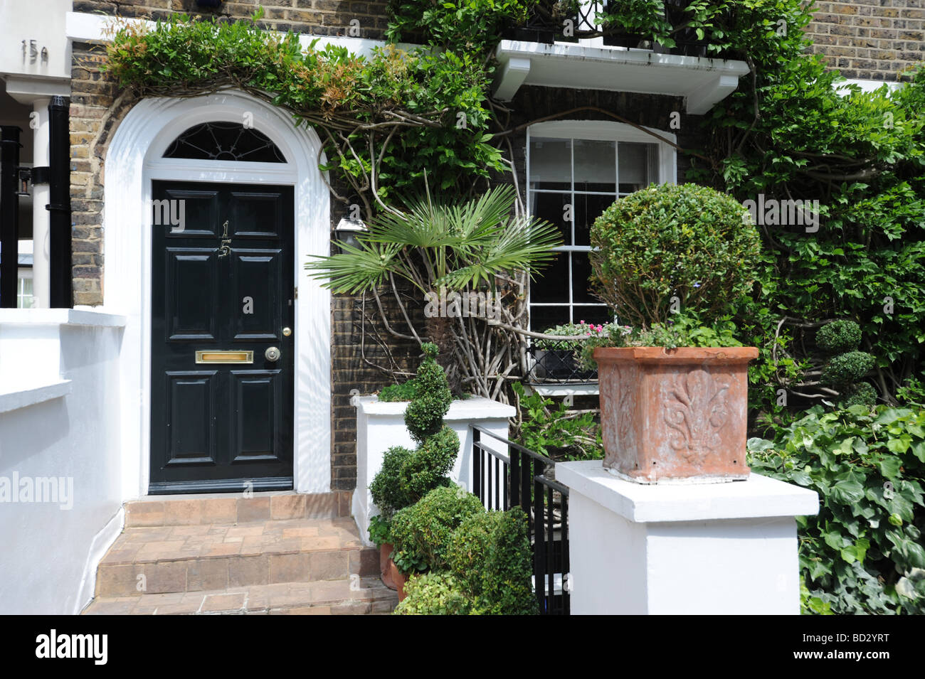 Elegant front doors just off the Kings Road Chelsea London Stock ...