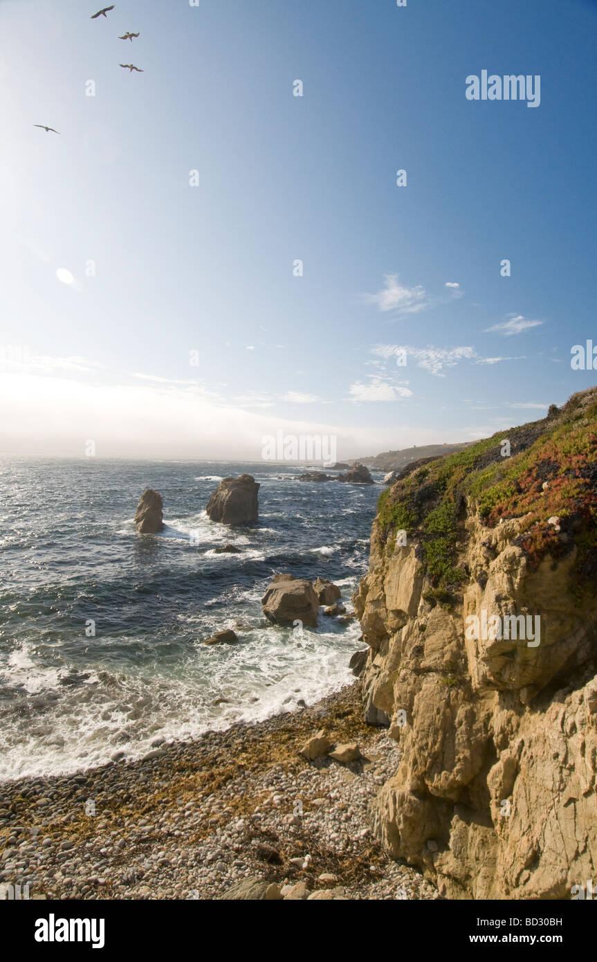 Big Sur California rocky coast - Stock Image