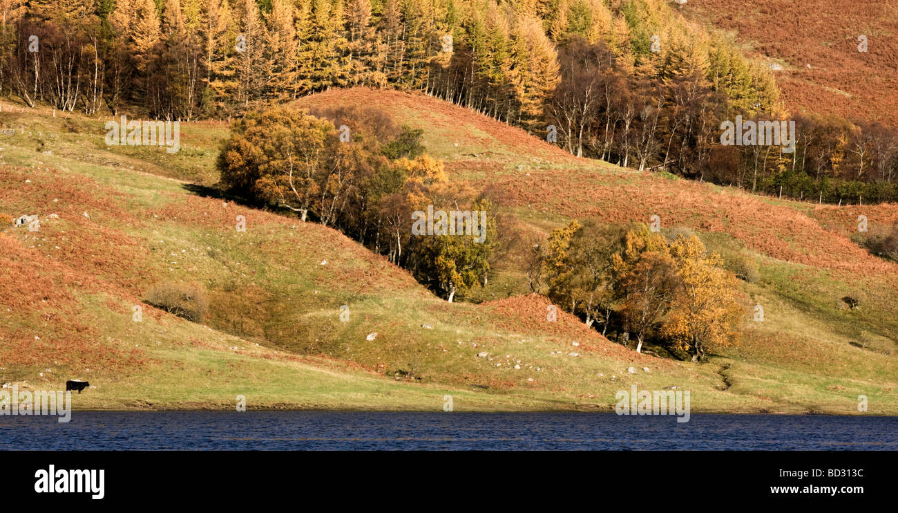 View across Loch Lubhair in the Scottish Highlands - Stock Image