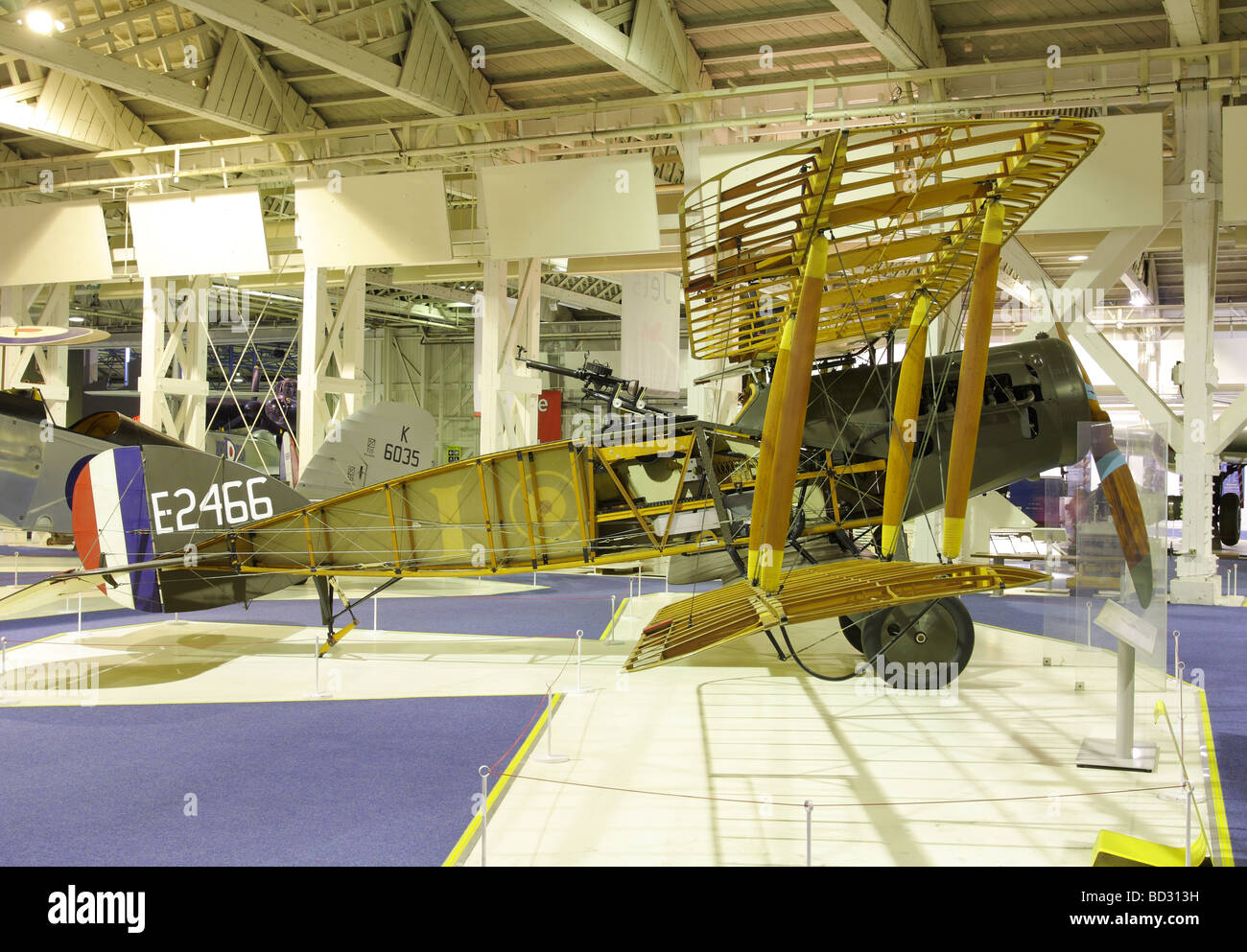 Early Twentieth Century Bi-plane fighter aircraft of the Royal Flying Corps. - Stock Image