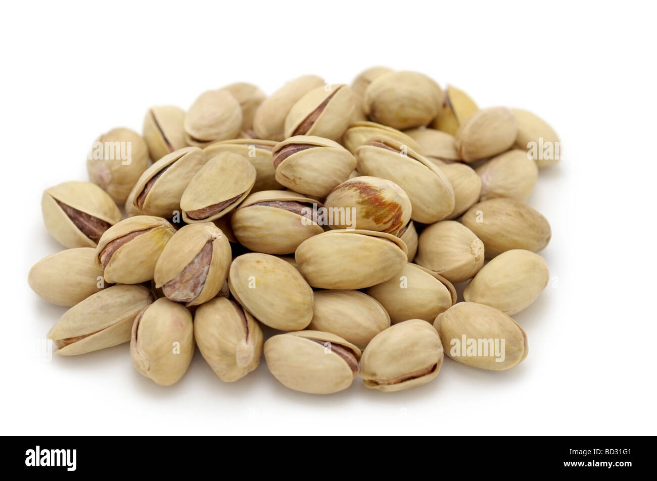 Small mound of Pistachio Nuts - Stock Image