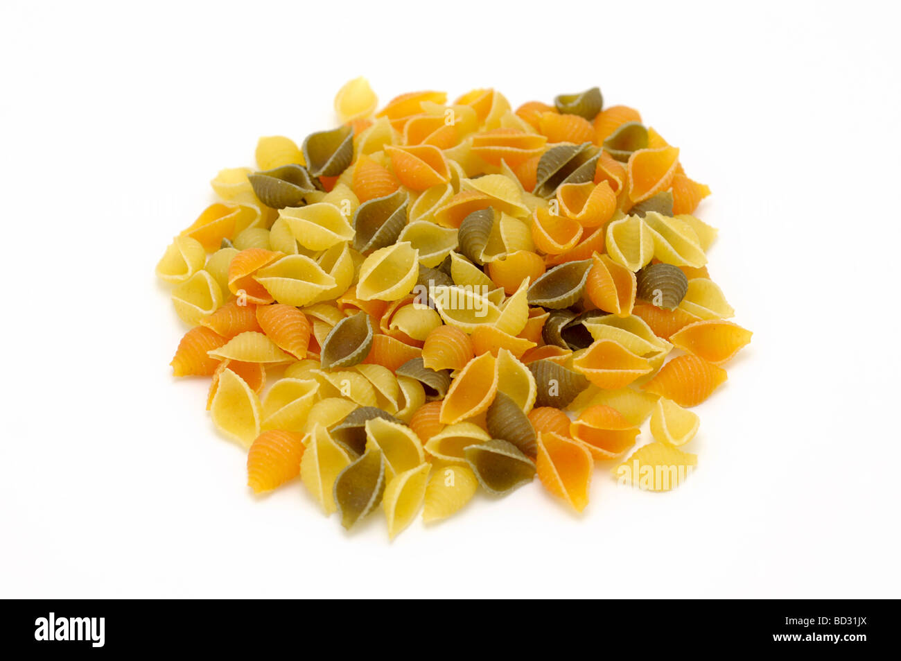 Pasta Shells, Dry Uncooked Pasta - Stock Image
