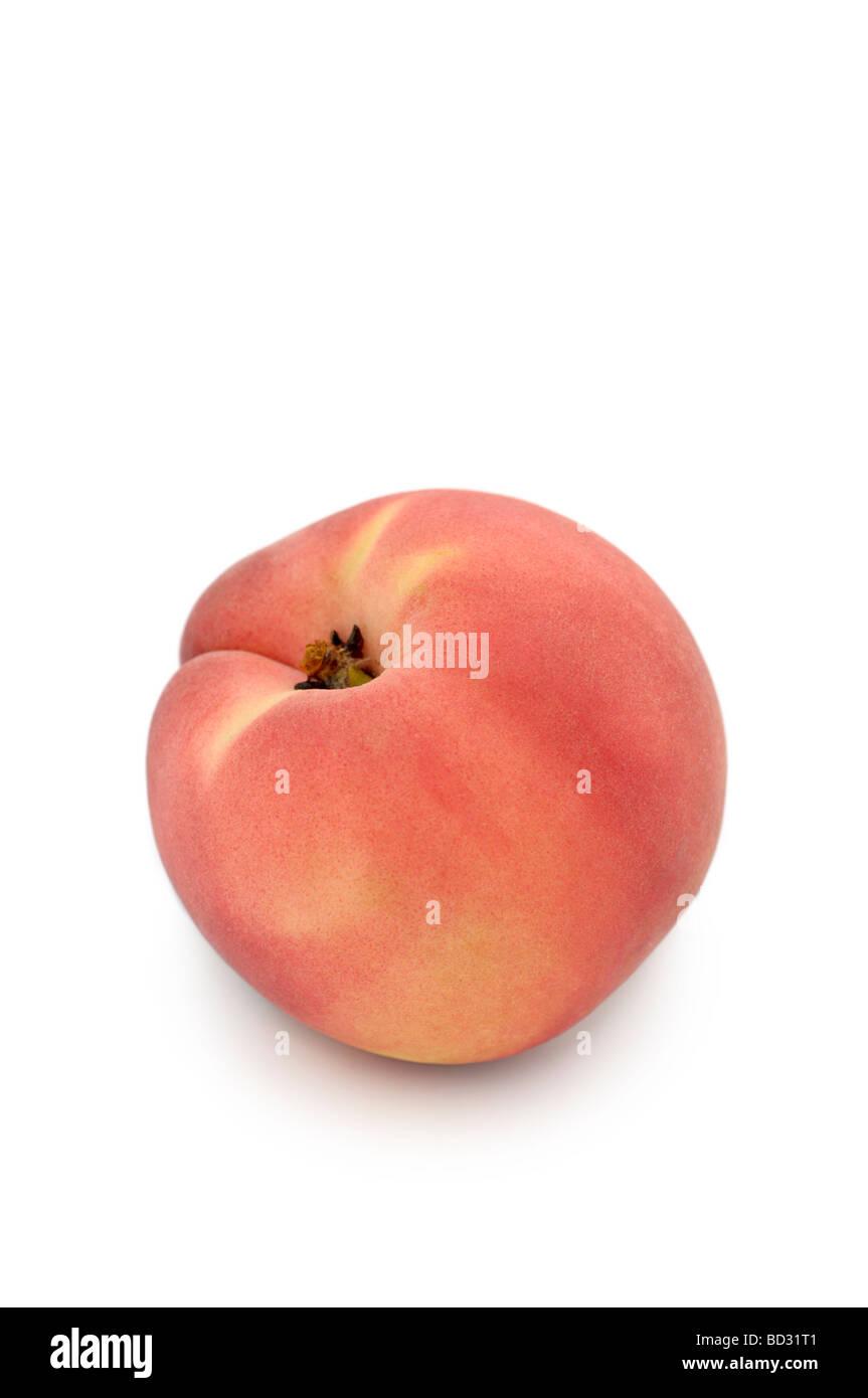 White Peach, White-fleshed Peach (prunus persica) - Stock Image