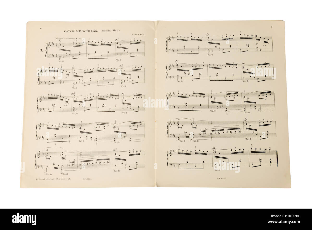 Musical notes book music sheet - Stock Image