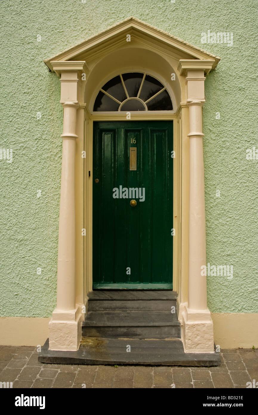 Aberaeron Door - Stock Image