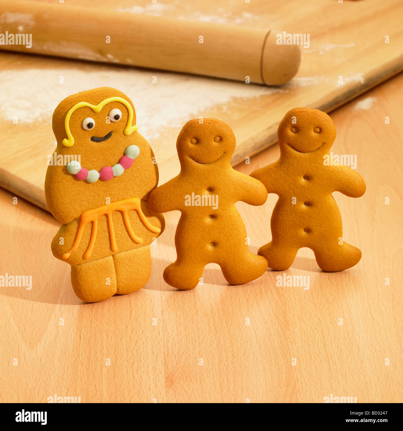Gingerbread Men. - Stock Image