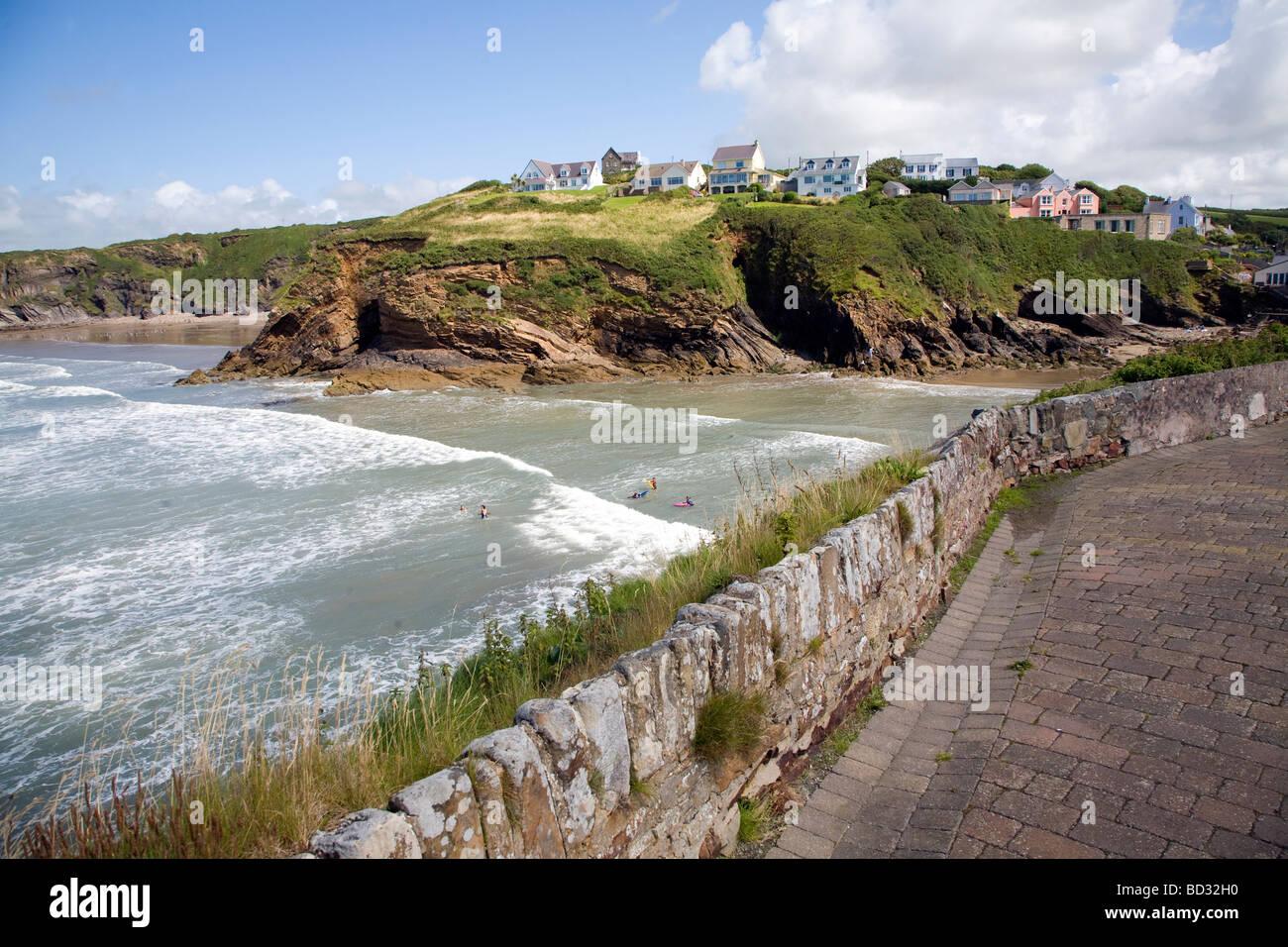 Coast Little Haven Pembrokeshire Wales UK - Stock Image