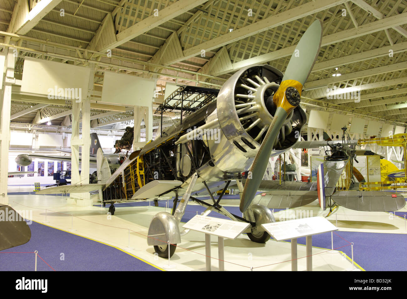 Fuselage of the Westland Wallace currently on display at the Historic Hangars Exhibition,RAF Hendon,London,England. - Stock Image
