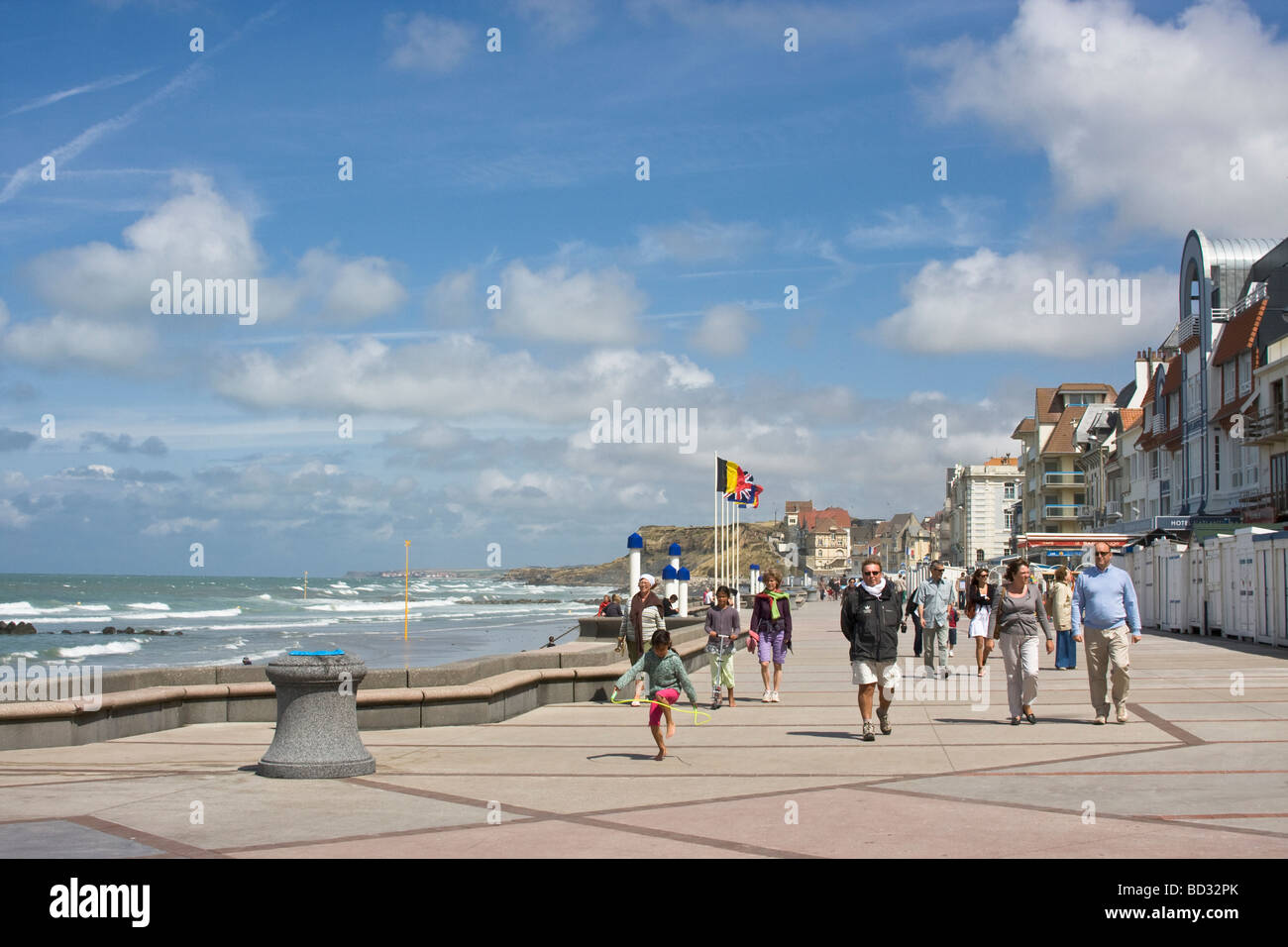The Promenade at Wimereux France, on the North Coast - Stock Image