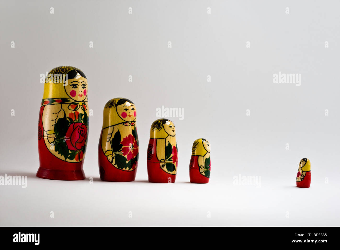 Family of Russian Dolls - Stock Image