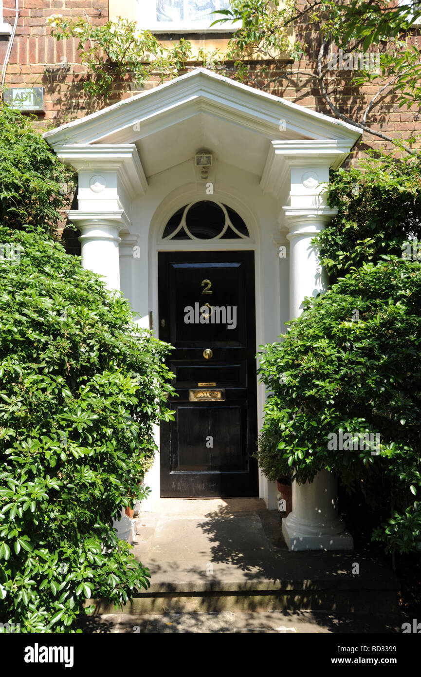 Elegant front doors just off the Kings Road Chelsea London & Elegant front doors just off the Kings Road Chelsea London Stock ...