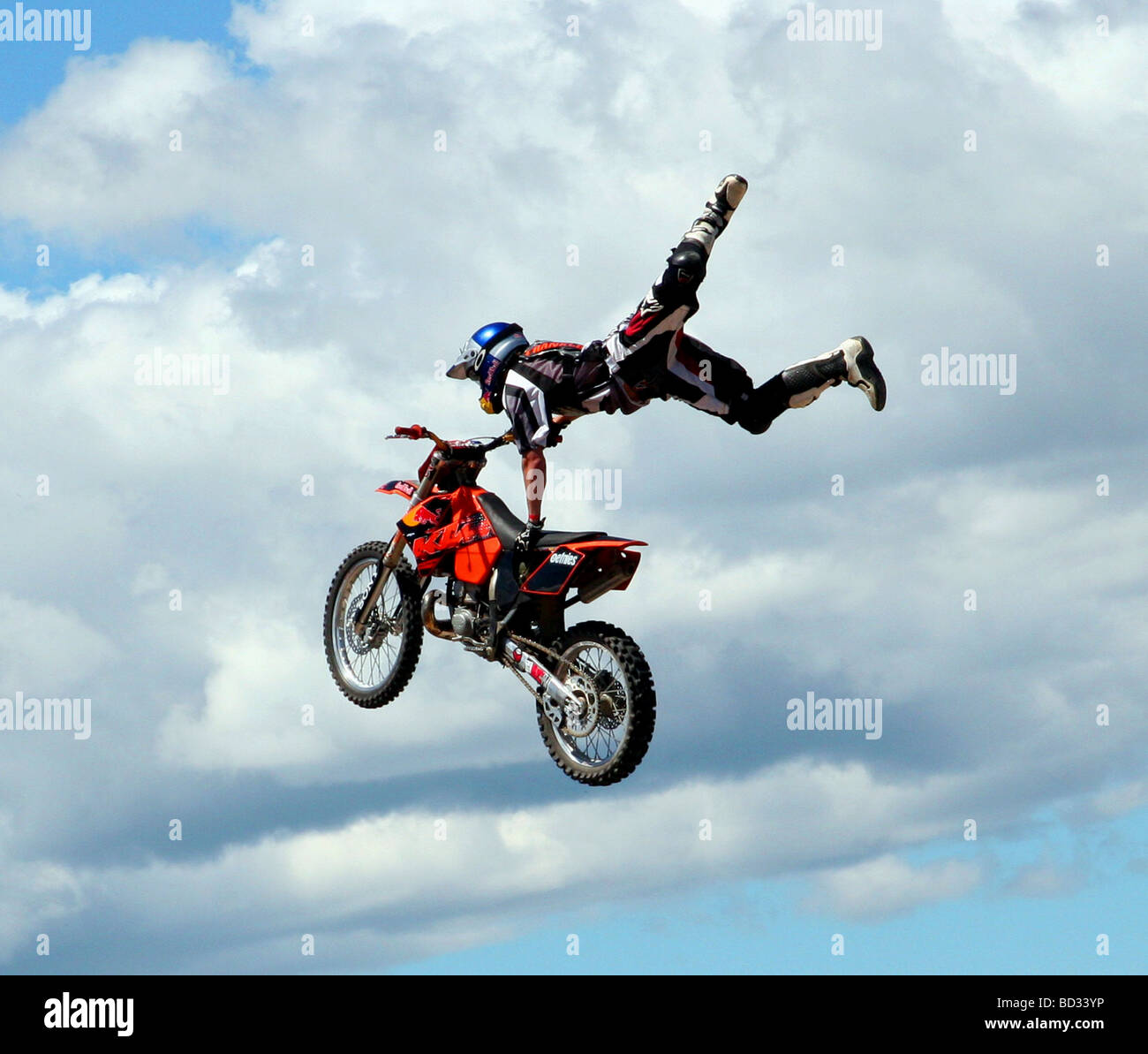 X-games Motorcycle sports in New Zealand Stock Photo