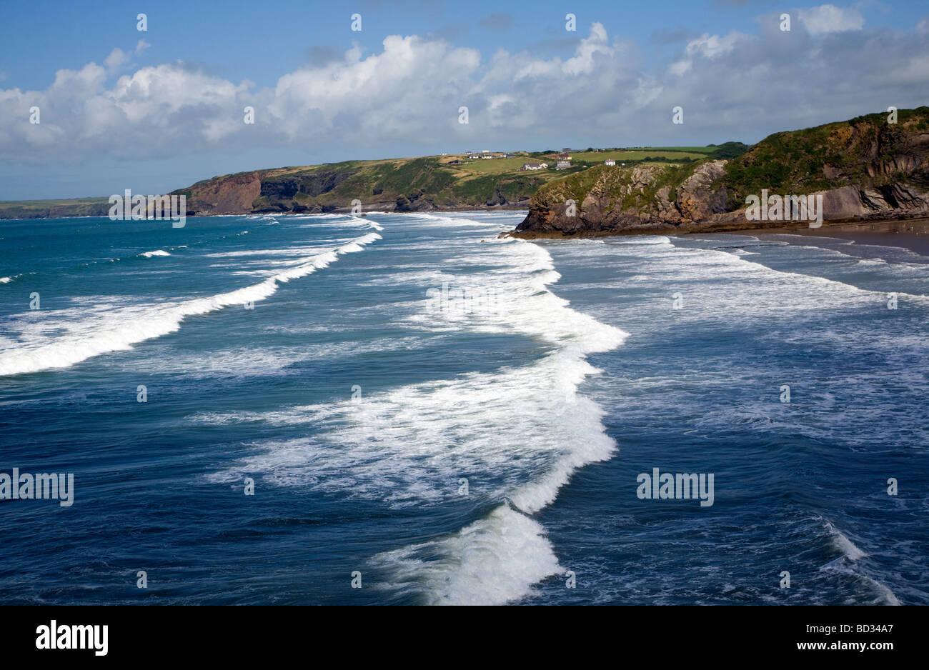 Coast Little Haven Pembrokeshire Wales - Stock Image