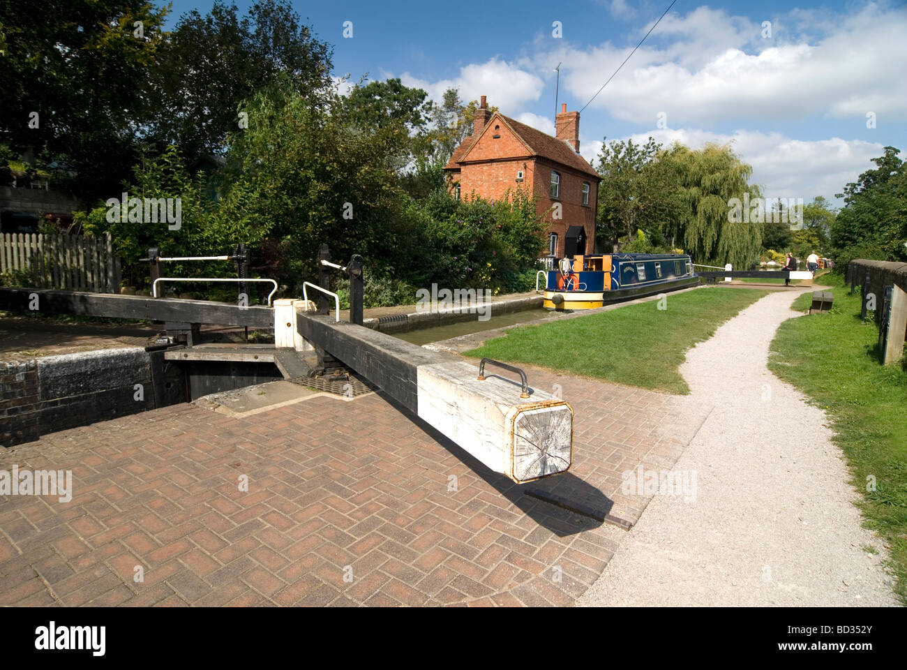 Cropredy top lock on the Oxford Canal Oxfordshire Doug Blane - Stock Image