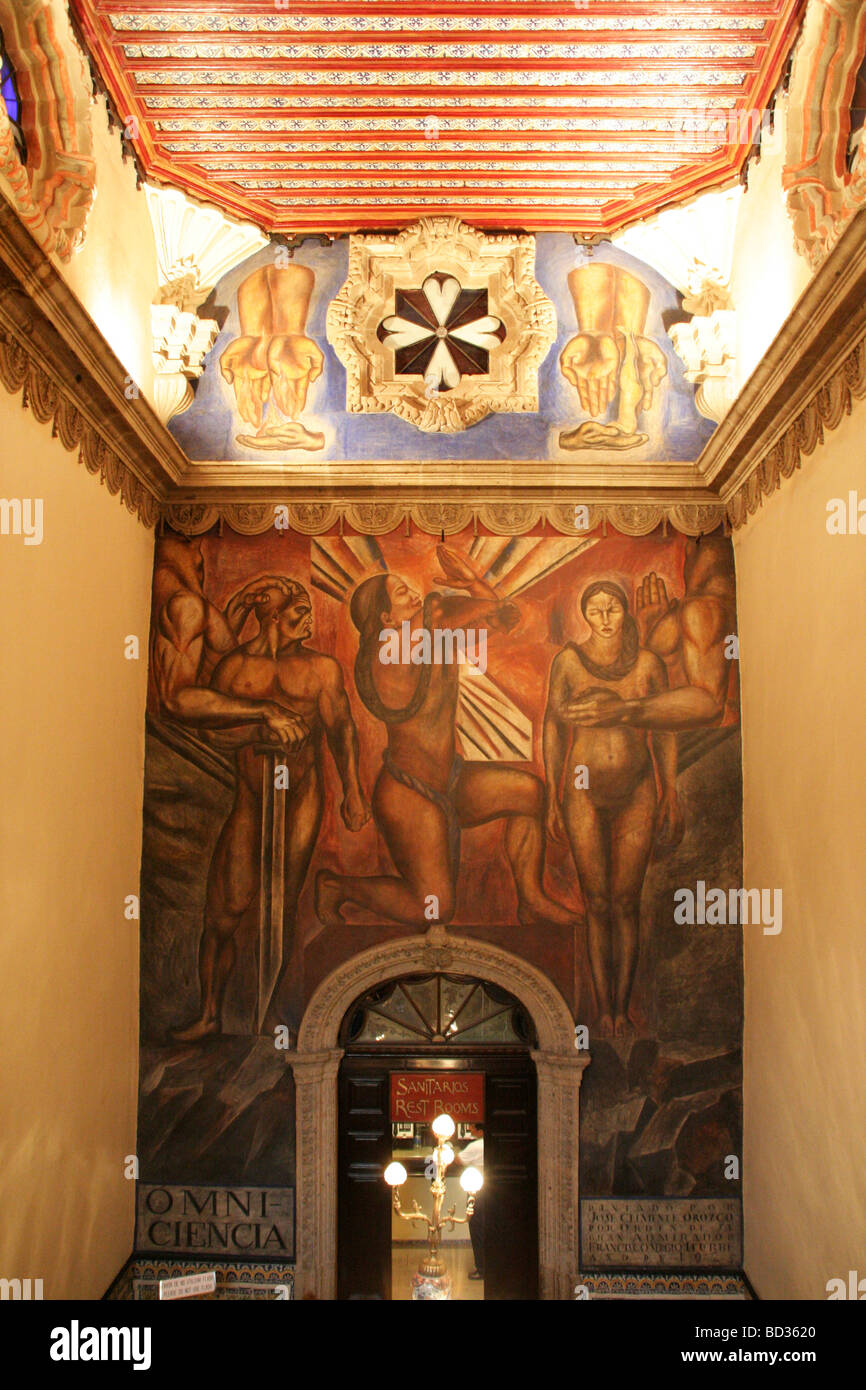 Perfect Mural By Jose Clemente Orozco Painted Inside The Restaurant Samborns ( House  Of Tiles) In Mexico City In 1925