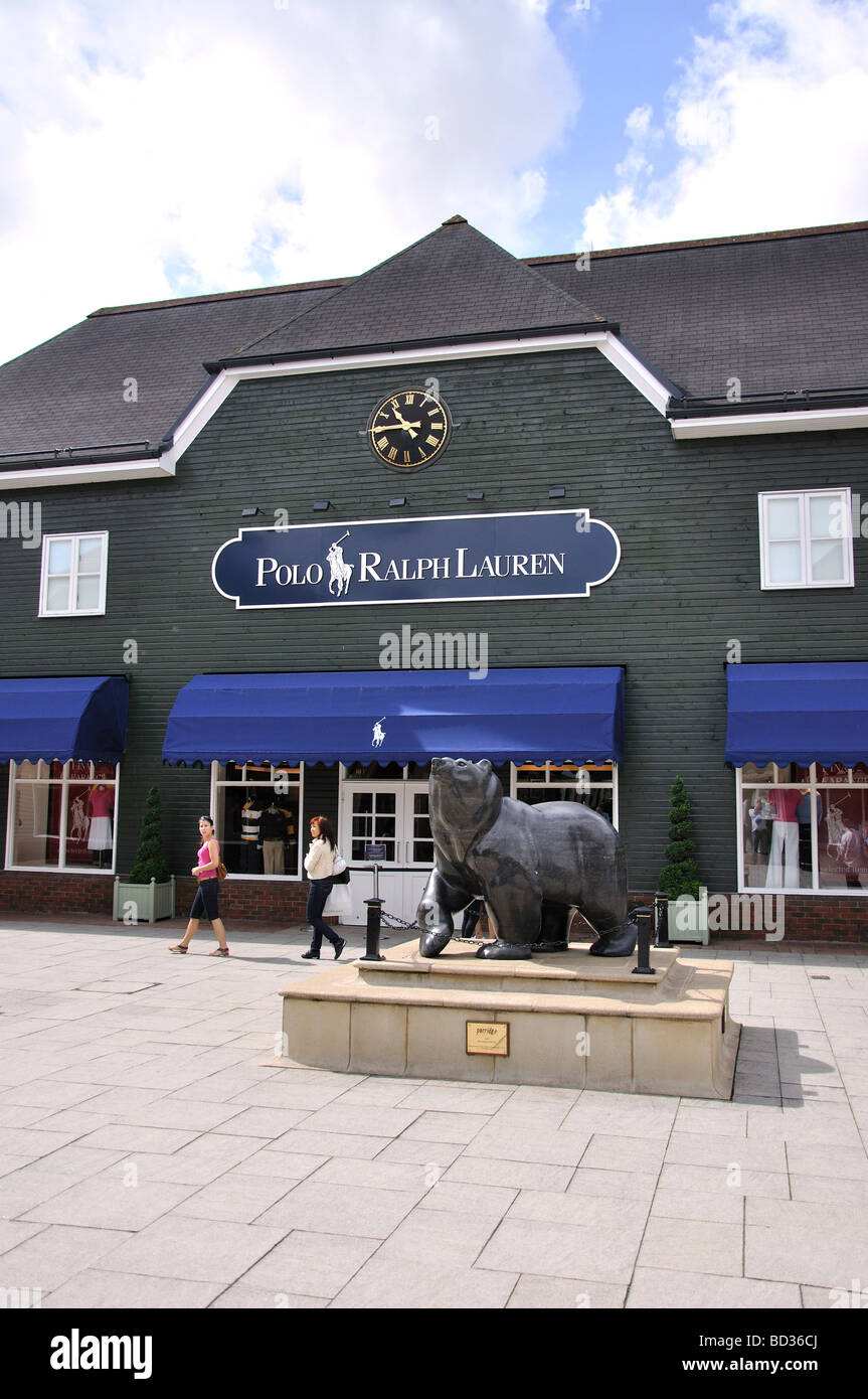 Polo Ralph Lauren store, Bicester Village Shopping Centre, Bicester, Oxfordshire, England, United Kingdom - Stock Image