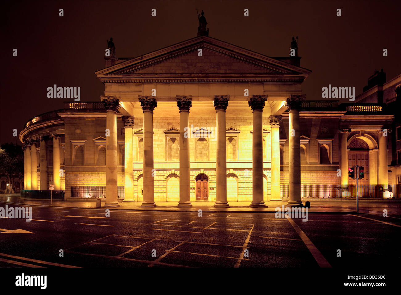 Bank of Ireland, College Green, Dublin, Ireland - Stock Image