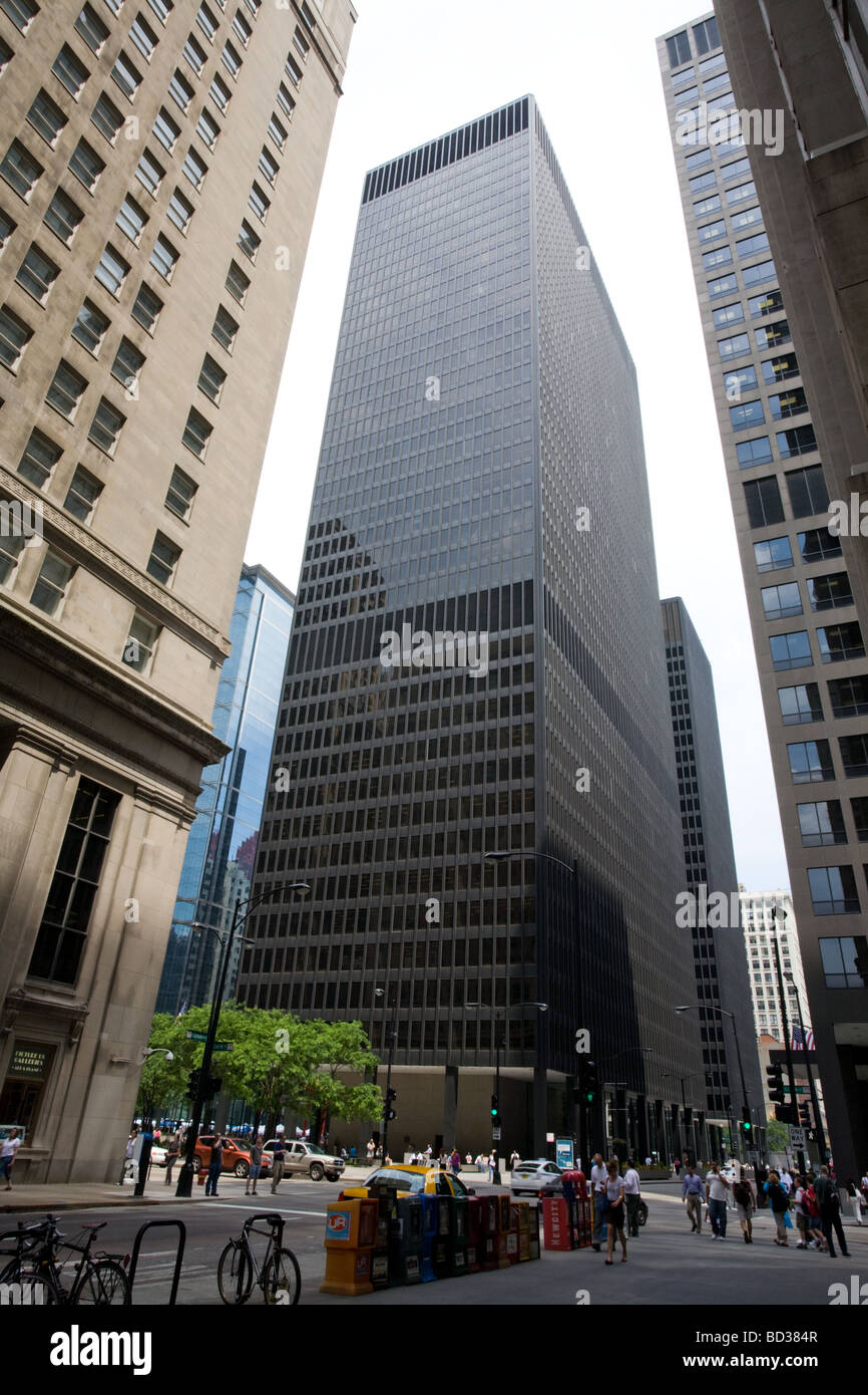 333 North Wabash skyscraper by Ludwig Mies van der Rohe Chicago Illinois - Stock Image