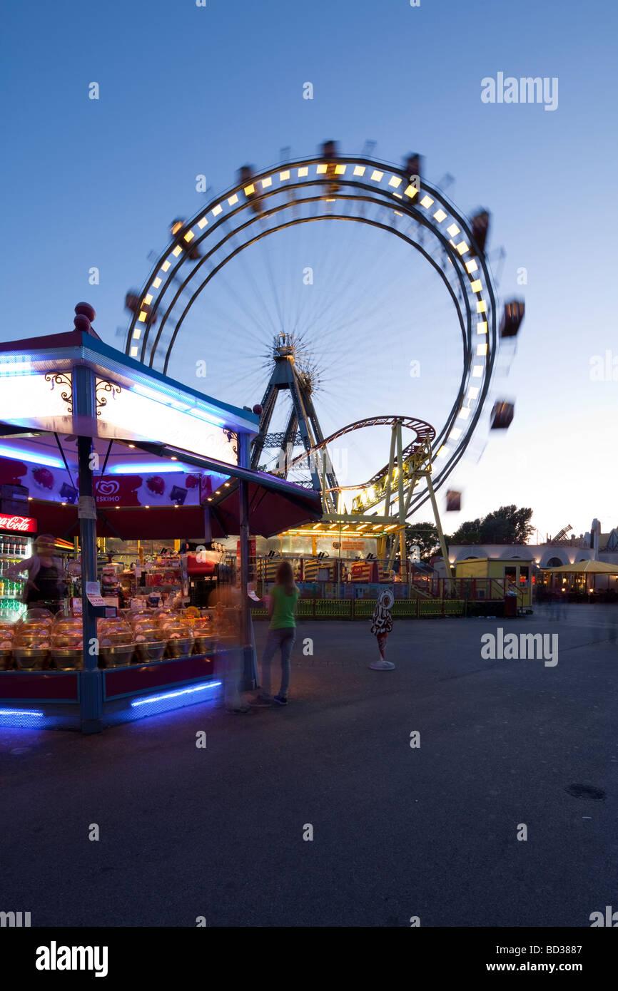 Wiener Riesenrad, Big Wheel, Prater amusement park, Vienna, Austria - Stock Image
