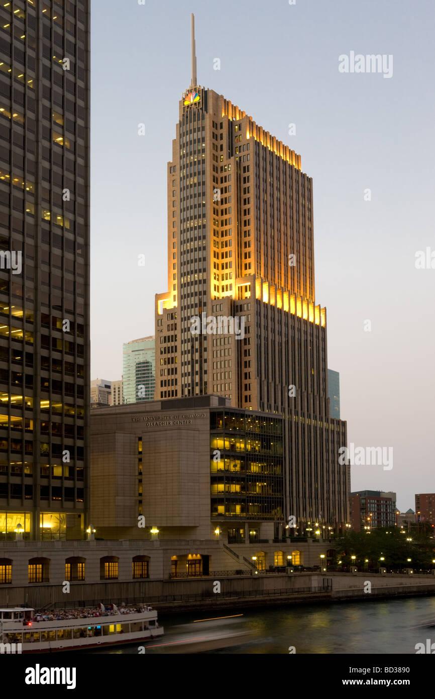 NBC Tower Chicago Illinois - Stock Image