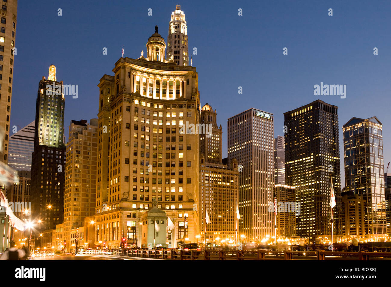 North end of The Loop Chicago Illinois - Stock Image