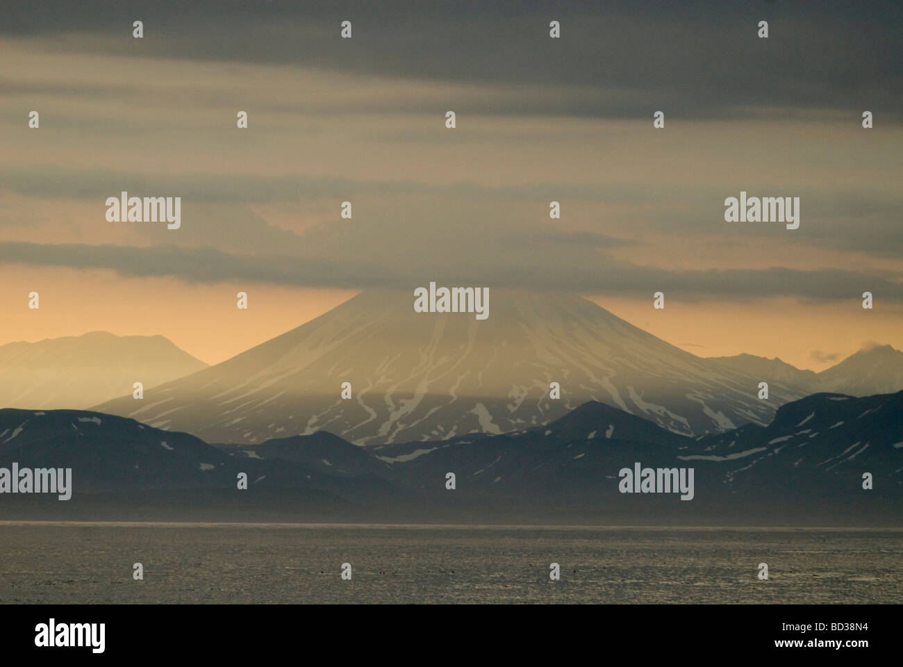 Volcanoes of Kamchatka , Russia - Stock Image