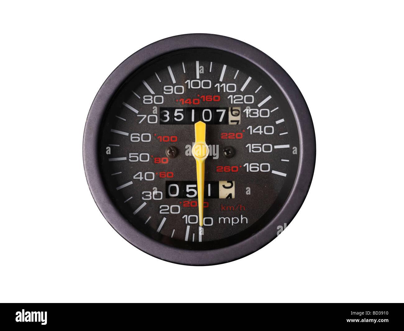 speedometer speed indicator - Stock Image
