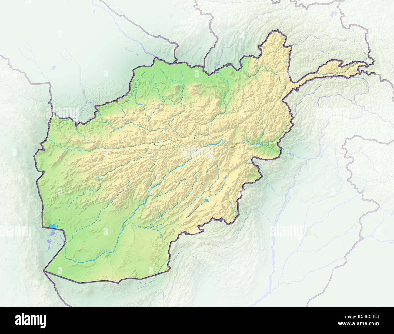 Afghanistan Map Stock Photos & Afghanistan Map Stock Images - Alamy