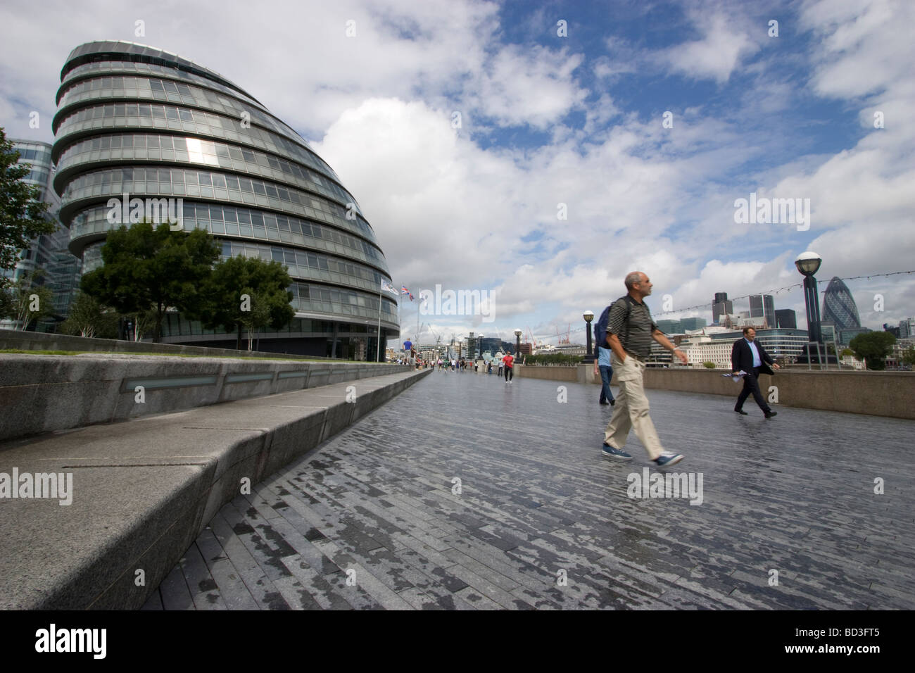 City Hall is the headquarters of the Greater London Authority which comprises the Mayor of London and London Assembly - Stock Image