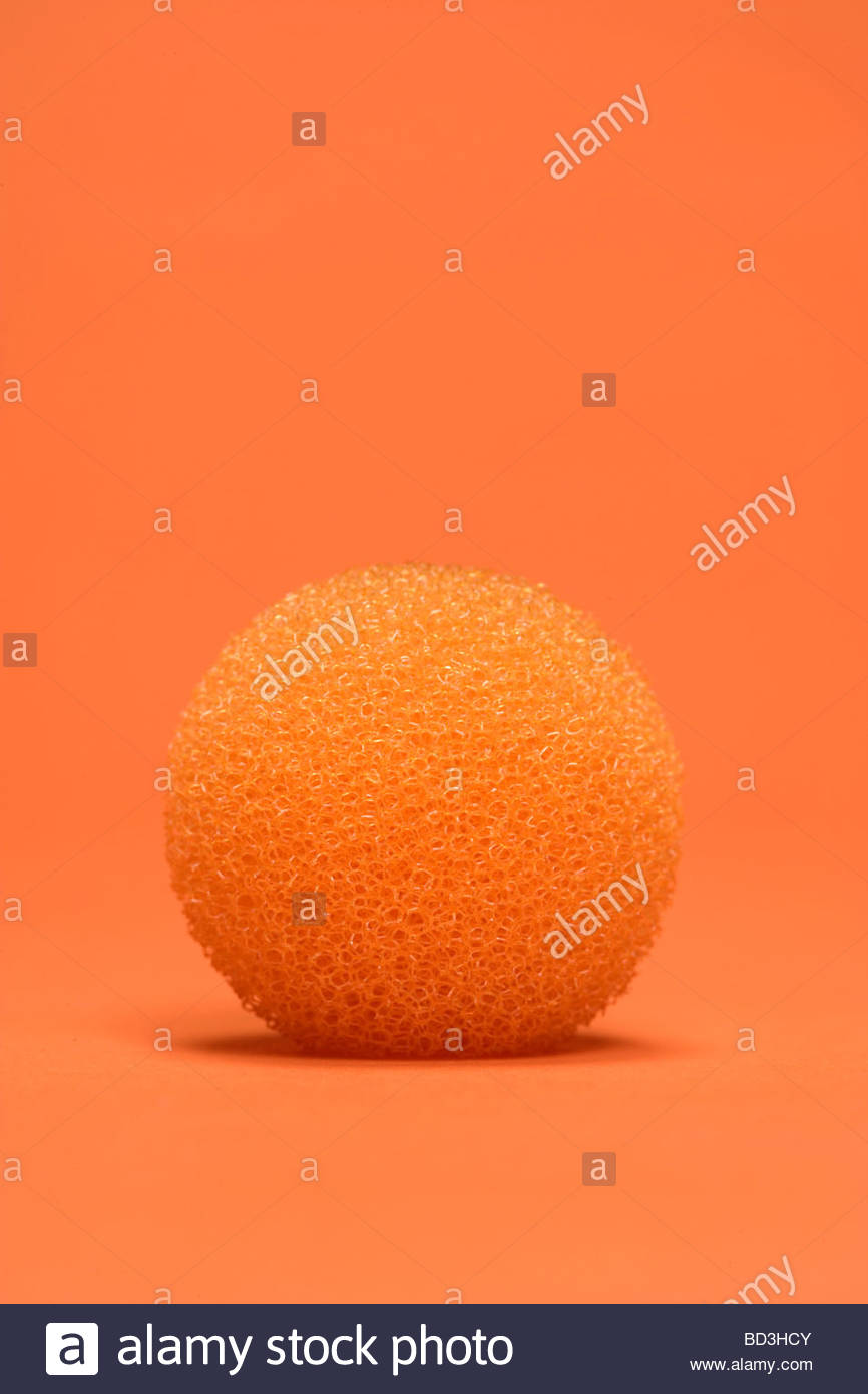 a round foam type ball object - Stock Image