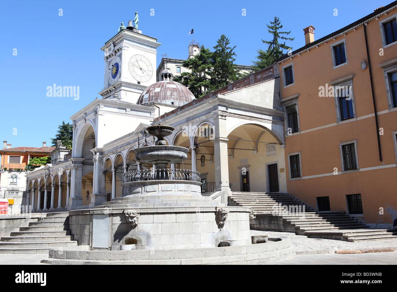 The Loggia of San Giovanni, Udine, Friuli Venzia Giulia, Italy - Stock Image
