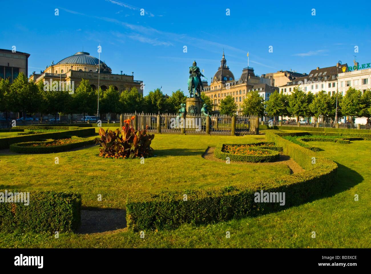 Kongens nytorv square in Copenhagen Denmark Europe - Stock Image