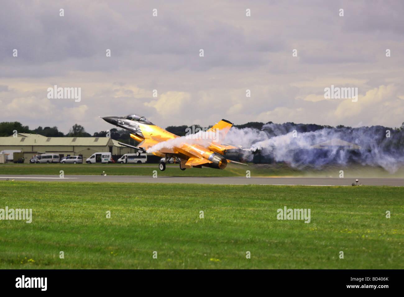 Netherlands Air Force f-16 war plane Stock Photo