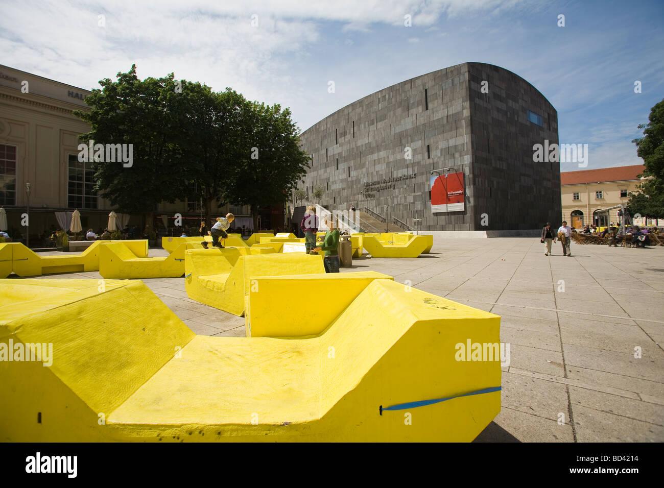 Vienna Museum District,  Museum Moderner Kunst - Stifung Ludwig, Wien - Stock Image