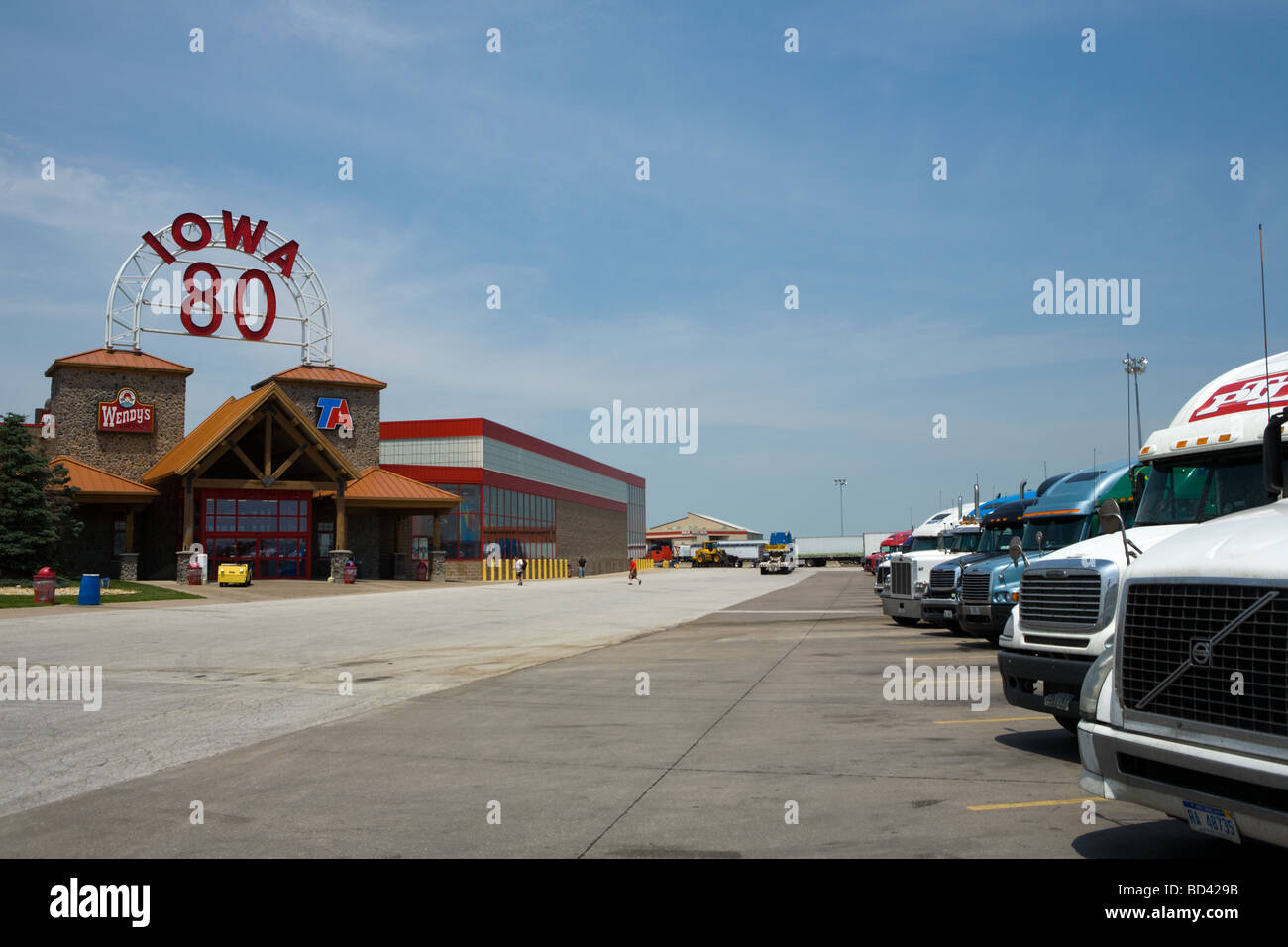Worlds largest truck stop is Iowa 80 on Interstate 80 Stock Photo