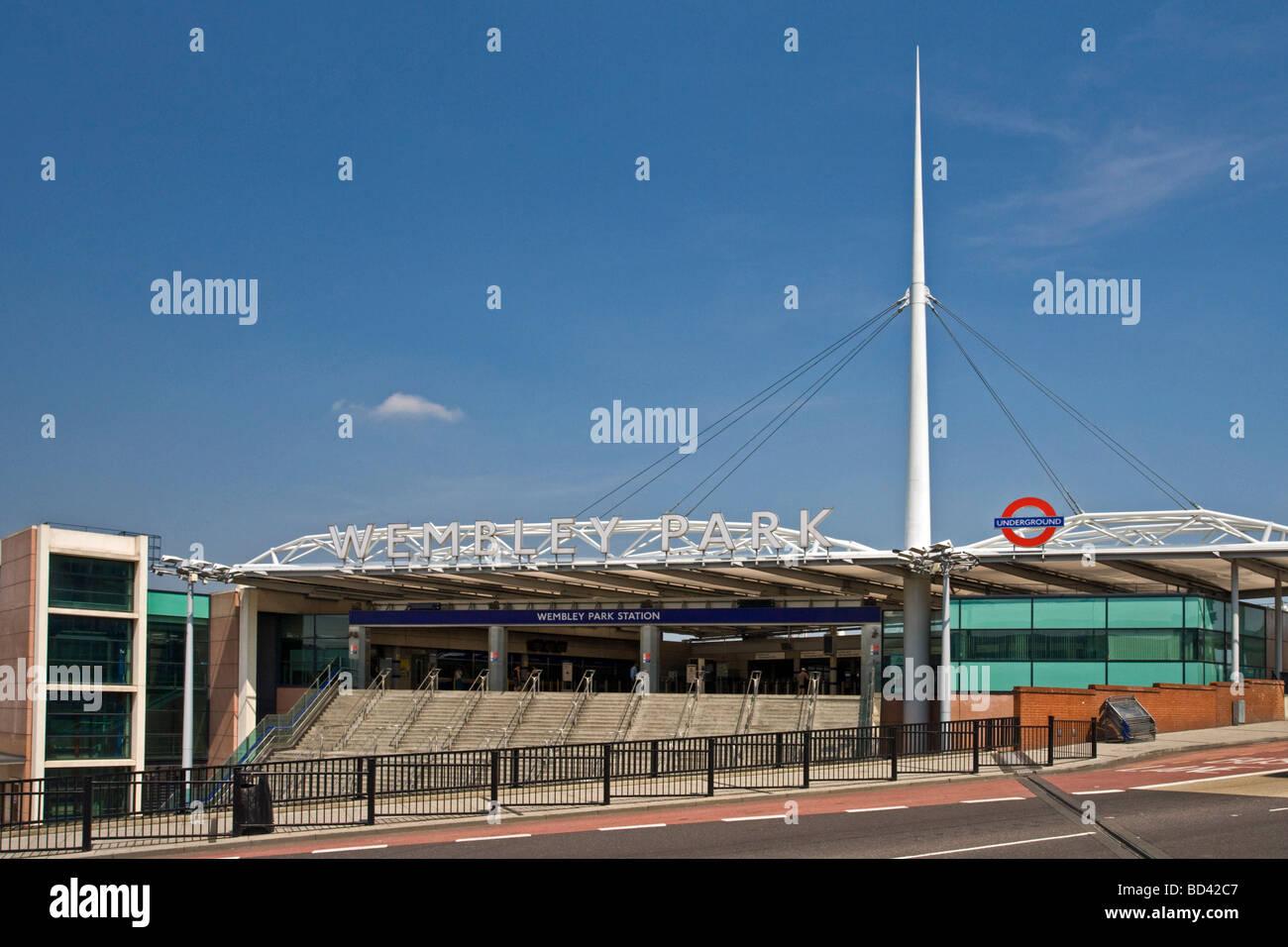 Wembley Park Train Station for Wembley Stadium London England Thursday July 02 2009 - Stock Image