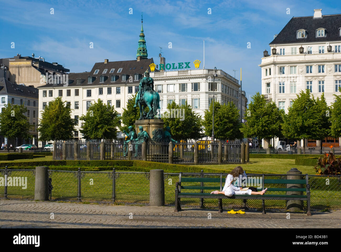 Kongens Nytorv square in central Copenhagen Denmark Europe - Stock Image