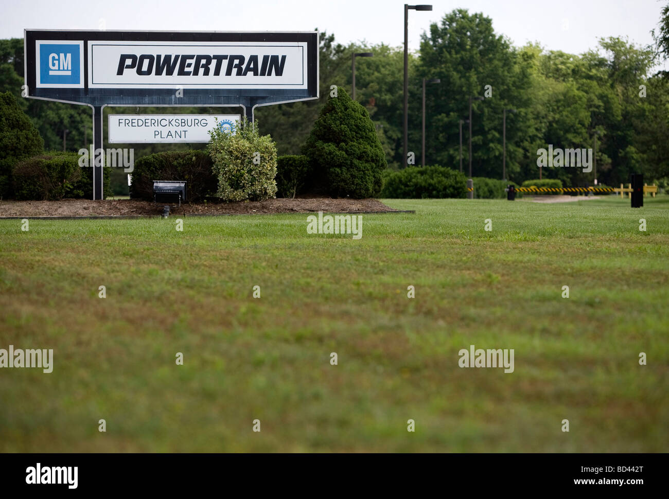 Fredericksburg Powertrain is one of nine GM plants across the country that the now bankrupt General Motors plans - Stock Image