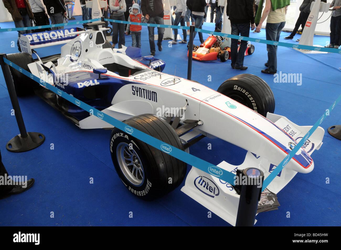 BMW Sauber polish driver's Robert Kubica Formula 1 race car - Stock Image