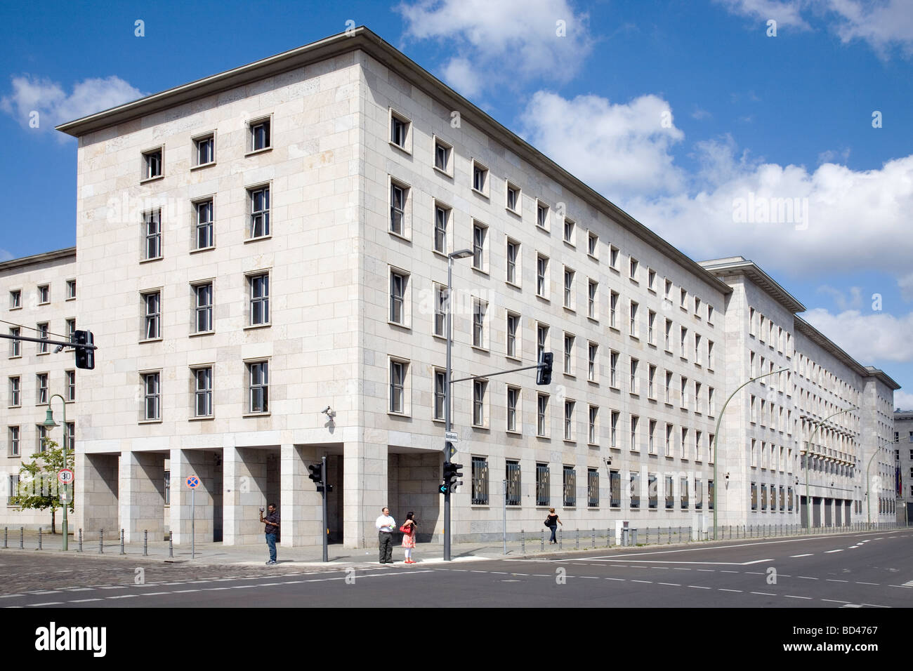 Former Reich Air Ministry, now German Finance Ministry, Wilhelmstrasse, Berlin, Germany - Stock Image