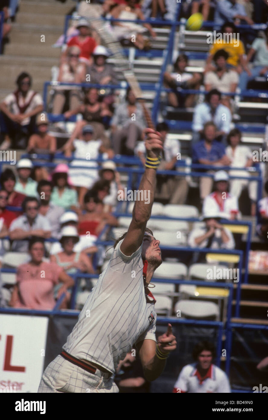Bjorn Borg SWE at the 1978 US Open Tennis Championships Stock Photo