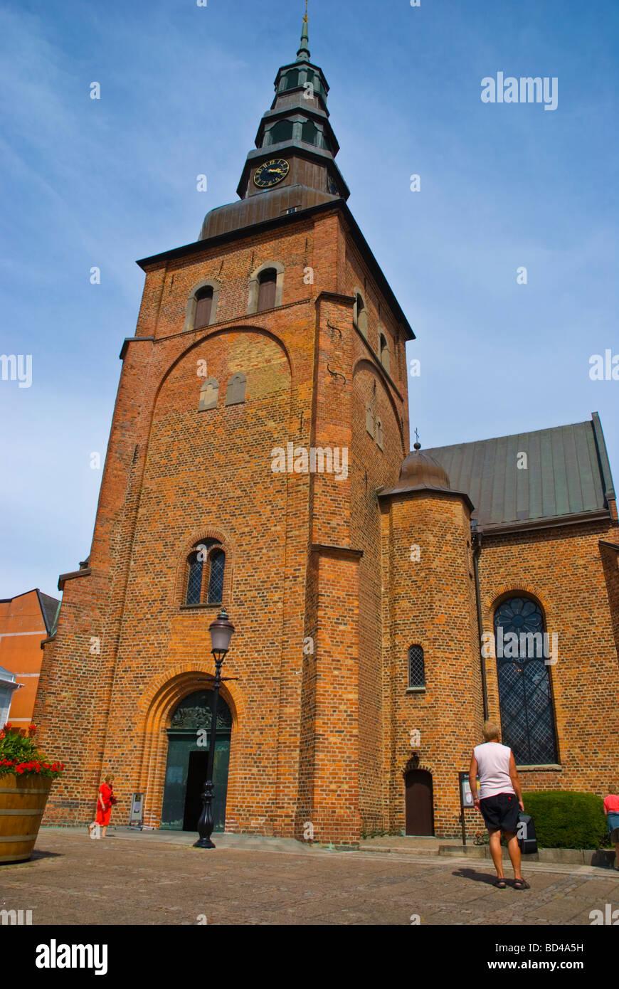 Sankt Maria kyrka in central Ystad Skåne Sweden Europe - Stock Image