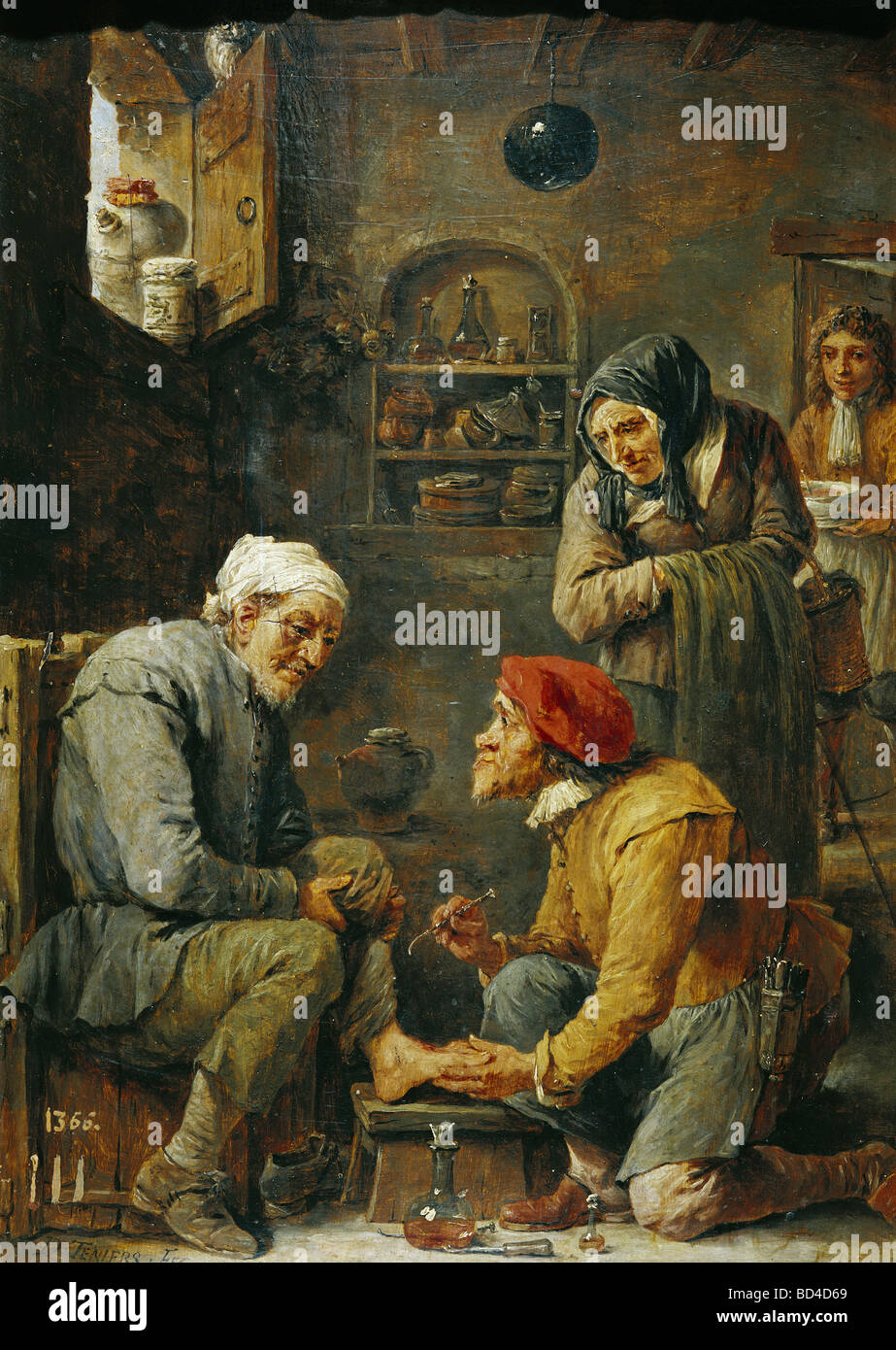 Teniers, David the Younger (1610 - 1690), painting, 'Surgical Operation', Prado, Madrid, Baroque, 'Operacion - Stock Image