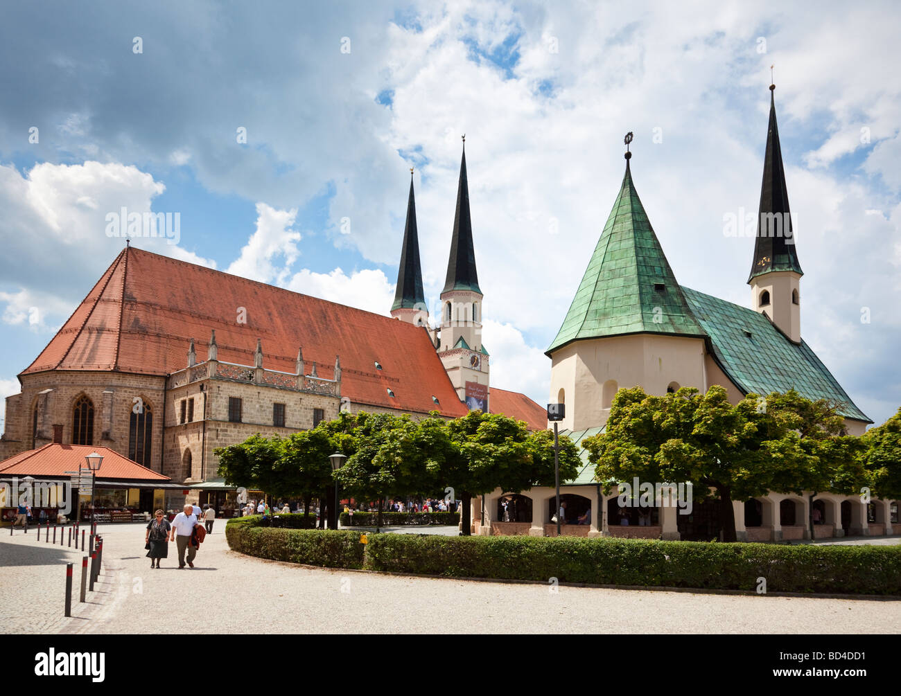Altotting, Bavaria, Germany - Collegiate Parish Church and Chapel of the Miraculous Image Stock Photo
