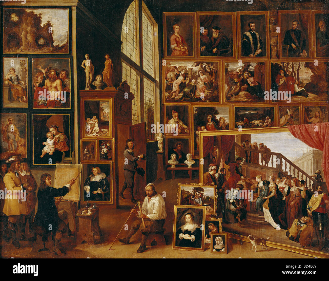 Teniers, David the Younger (1610 - 1690), painting, View of the picture  gallery of Archduke Leopold Wilhelm in Brussels, circa 1
