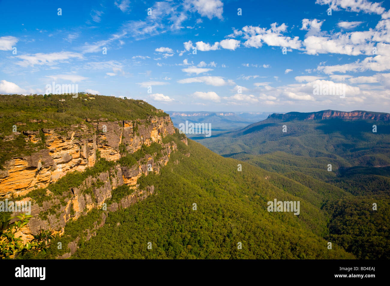 Inland Cliff Blue Mountains National Park New South Wales Australia - Stock Image