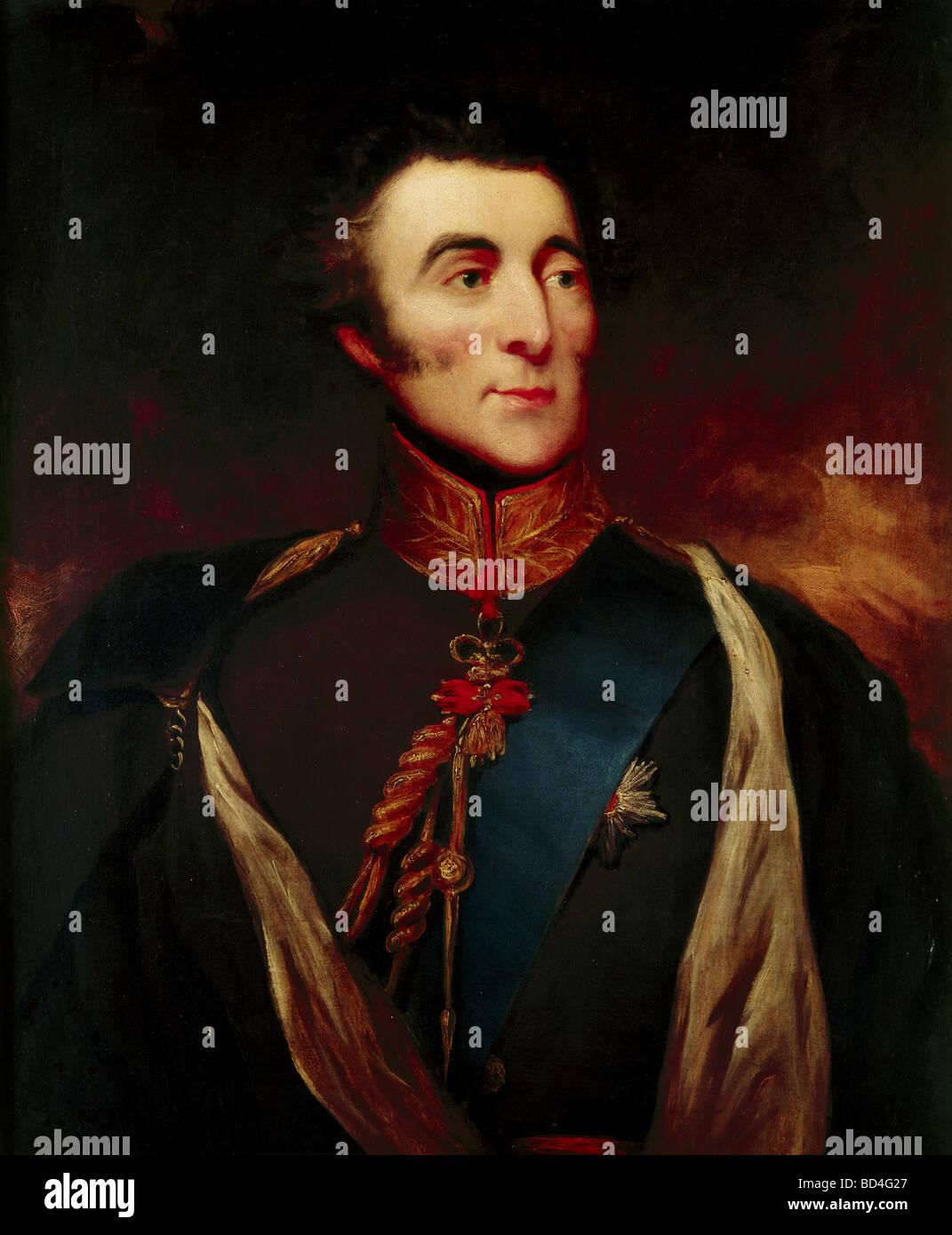Wellington, Arthur Wellesley Duke of, 1.5.1769 - 14.9.1852, British politician, portrait, as Spanish general, anonymous - Stock Image