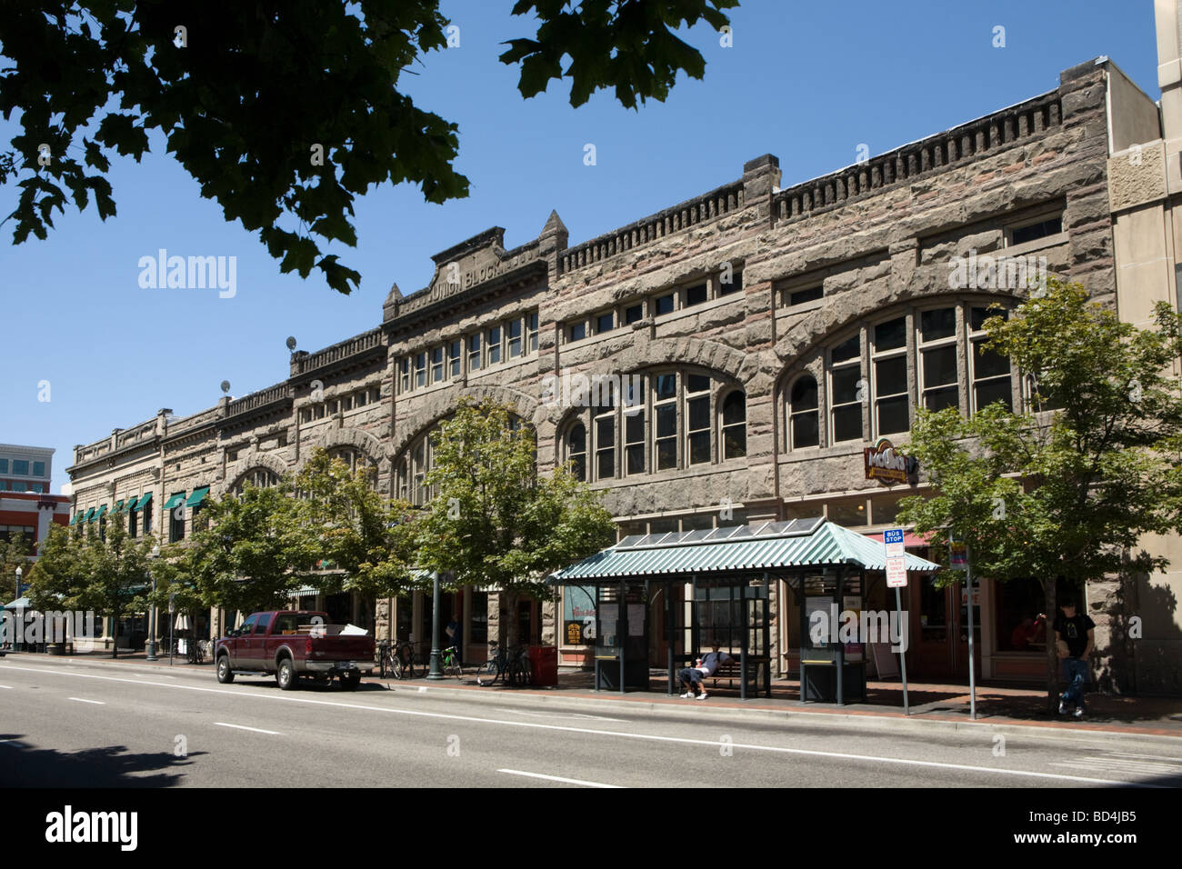 Historic Union Block in Boise Idaho - Stock Image