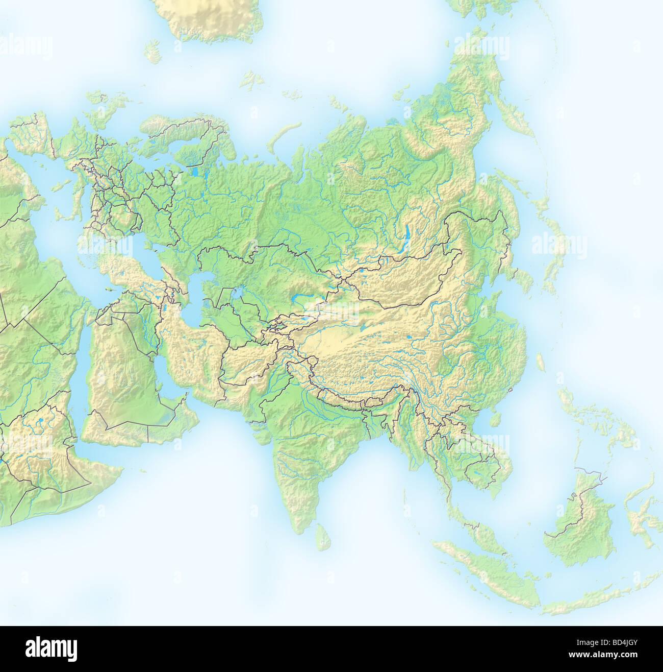 Asia Map Stock Photos & Asia Map Stock Images - Alamy