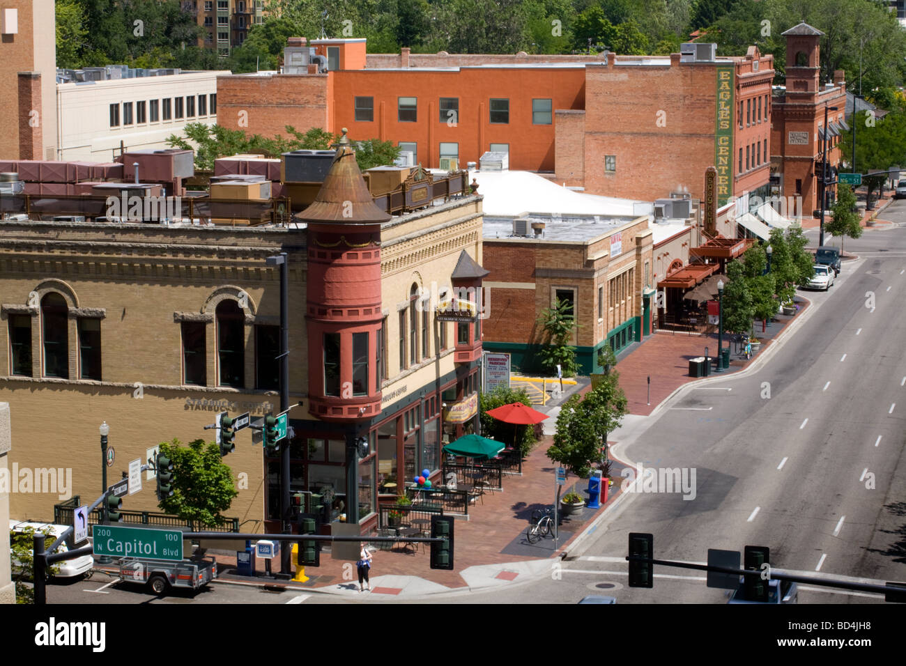 Business district downtown Boise Idaho - Stock Image